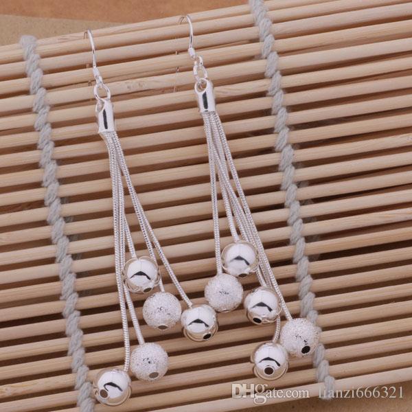 멋진 디자인 다양한 비즈 멀티 체인 뜨거운 새로운 패션 쥬얼리 제조 업체 귀걸이 925 스털링 실버 주얼리 공장 가격 패션 E324