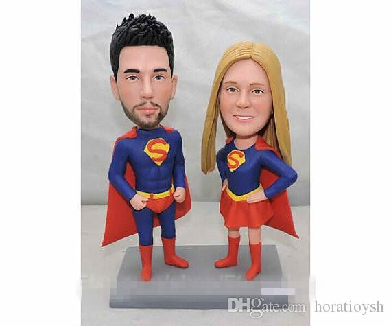 2018 Custom Wedding Cake Topper Superman Cake Topper Super