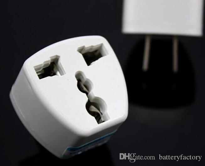 고품질 여행용 충전기 AC 전원 영국 / AU / EU 미국용 플러그 어댑터 변환기 미국 범용 전원 플러그 Adaptador 커넥터 흰색