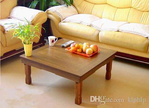 Korean Low Table Folding Legs Square 80cm Asian Antique Furniture Design  Living Room Floor Dining Traditional Korean Tea Table