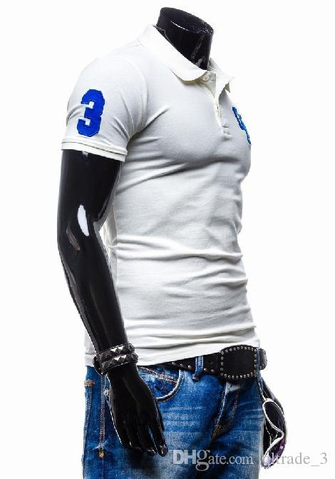 2015新しいファッション刺繍入りポーロスシャツ裏切りの上衣服スリムフィット半袖ポーロス