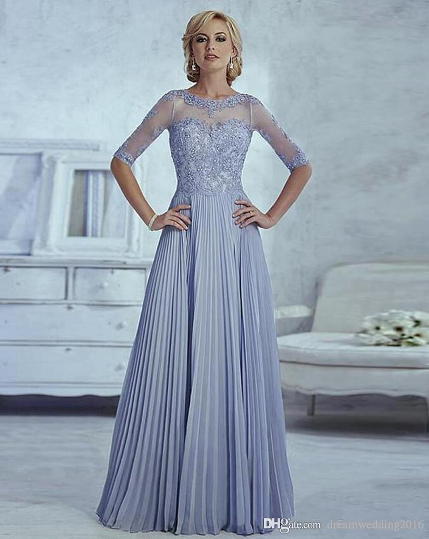 Compre Completo Encaje Madre De La Novia 2018 Vestidos Elegantes ...