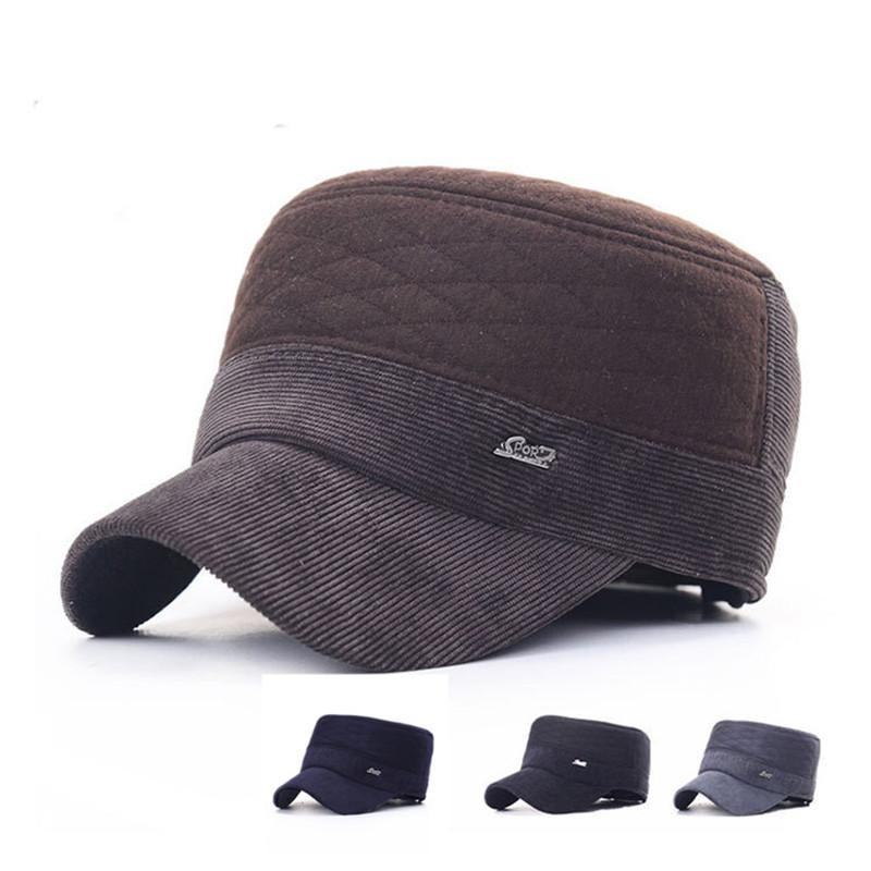 baseball hat with flaps yankees ear winter cap uk elderly male flat
