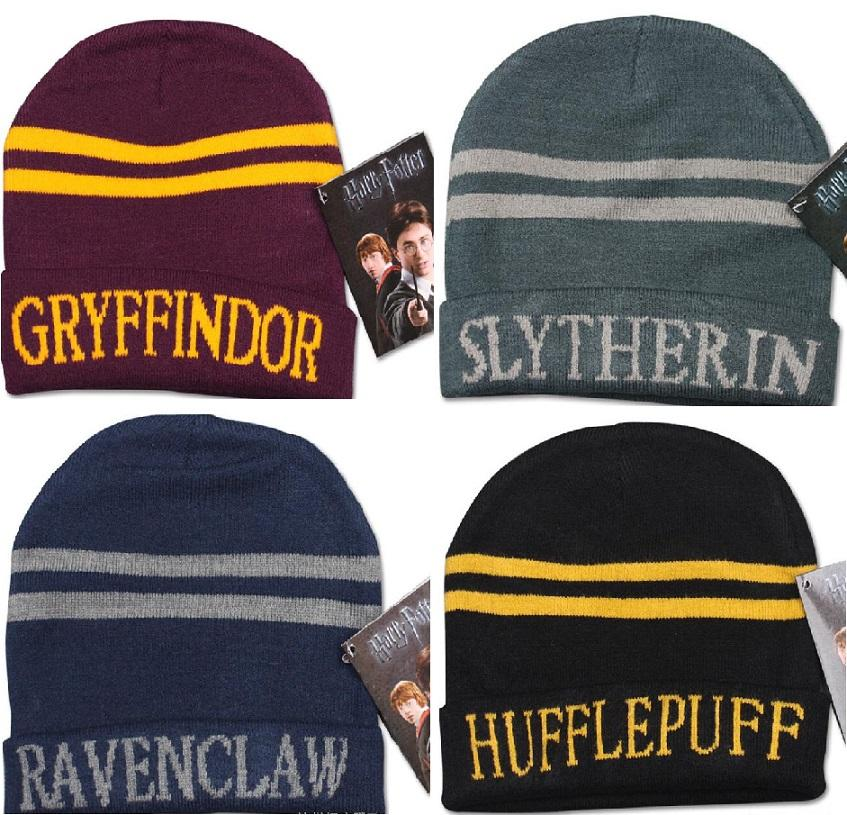 283ad795ea7 MOQ Fashion Harry Potter Hat Caps Gryffindor Hufflepuff Slytherin Knit Hat  Cap Cosplay Costume Hat Gift Warm Stripe Gryffindor Hat Cap Knit Cap Slouch  ...