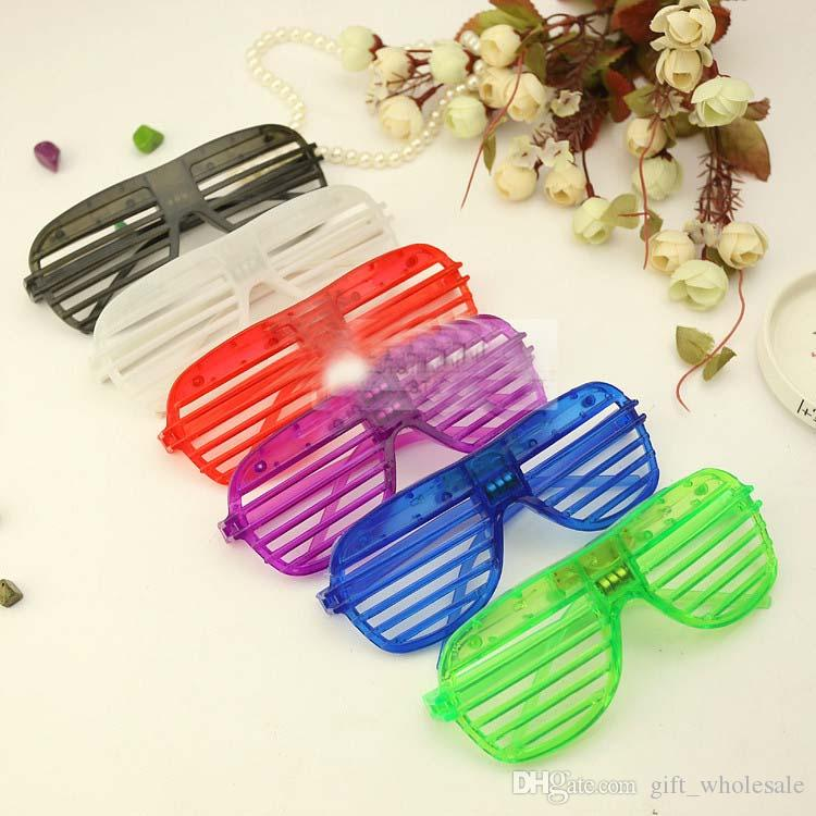 Christmas Gift Party Supply Window Blind Flashing LED Eye Glasses Colors Mix Cheap Price