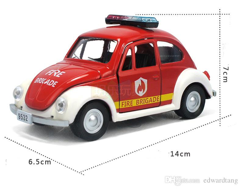 Alloy Car Model, Police Vehicles Toy, The Beatles Car Model,Pull Back Car, with Music, Kids Toy, Gifts, Collection, Decorations