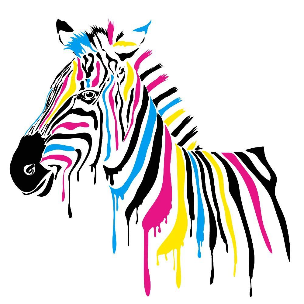 Full Color Zebra Lovely Animal Live In Your Home Diy Wall Home