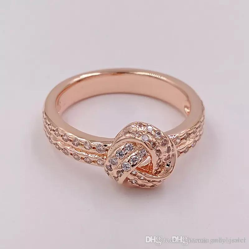 b39d9ebb6 Sparking Love Rose Gold Rings Original Silver Fits For Pandora Style Jewelry  180997CZ H8ale H8 Cheap Engagement Rings Mens Wedding Rings From ...