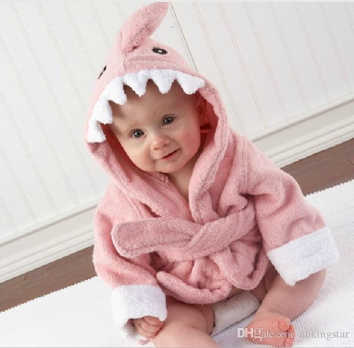 Сова акула дизайн полотенце материал хлопок с капюшоном халат для детей халат 4size 4 цветов бесплатная доставка