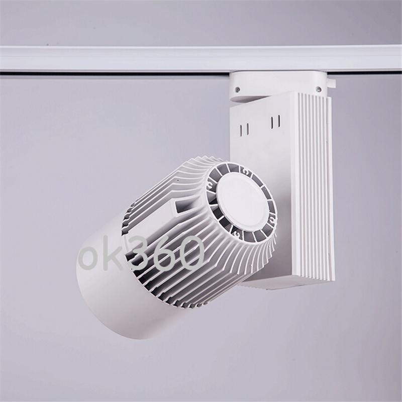 LED track light 30W COB high lumens Led Ceiling Spot Lights for shopping mall lighting lamp Warm/White AC 85-265V CE Black/White