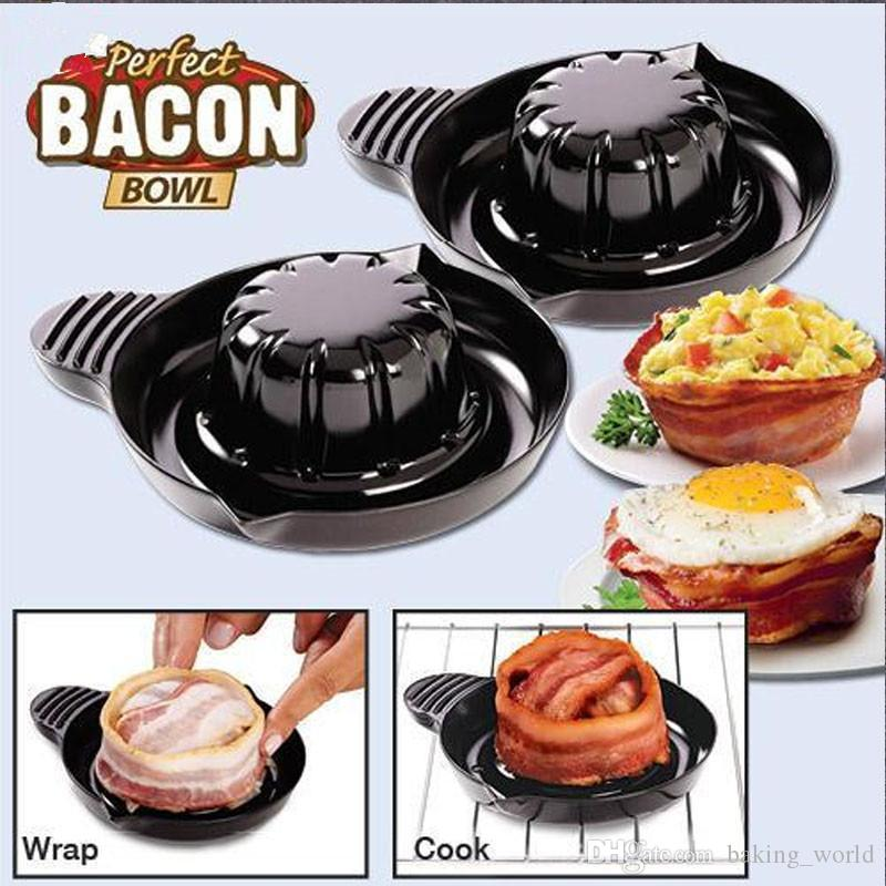 perfect bacon bowl microwave oven edible bowl of bacon salad meat