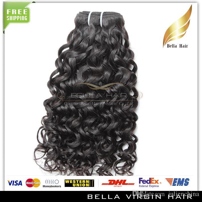 bonne qualitecheveux bresilien vierge Extentions couleur natrel Human Hair Wavy Water Wave Hair livraison gratuit