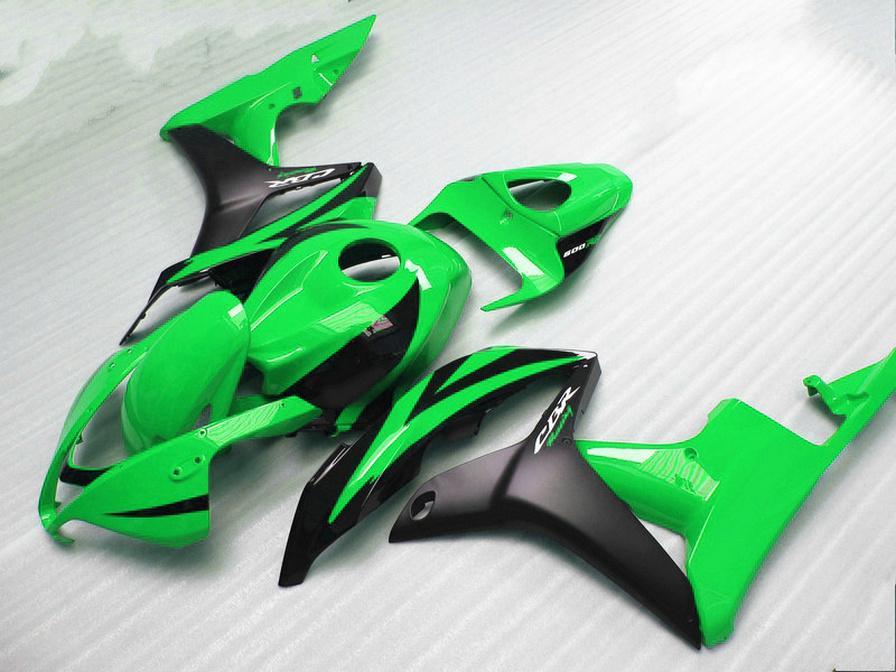 fairing kit for HONDA Injection molding CBR600RR 2007 2008 bodykits CBR 600RR F5 07 08 matte black green fairings KQ16