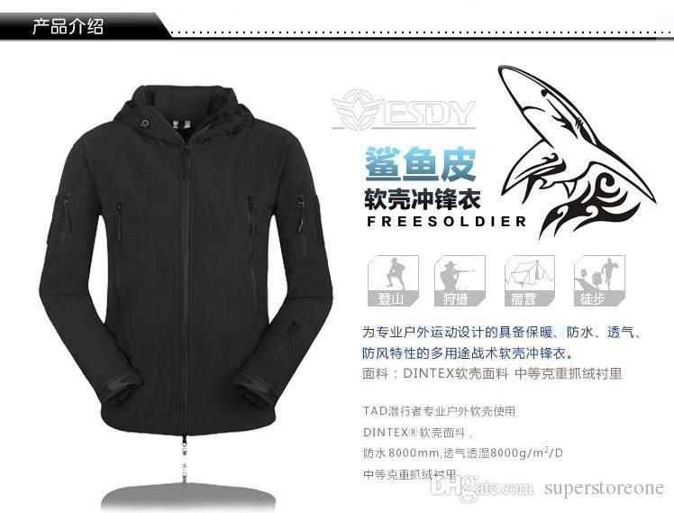 2021 TAD V 4.0 Tactical Jacket Quality Lurker Shark Skin