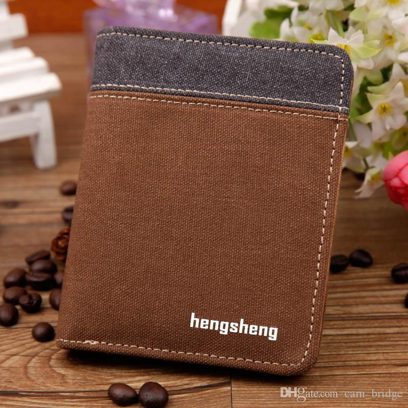 Patchwork PU Leather Wallet Horizontal Card Holder Casual Coin Purse For Men Vertical Horizontal Wallets A346