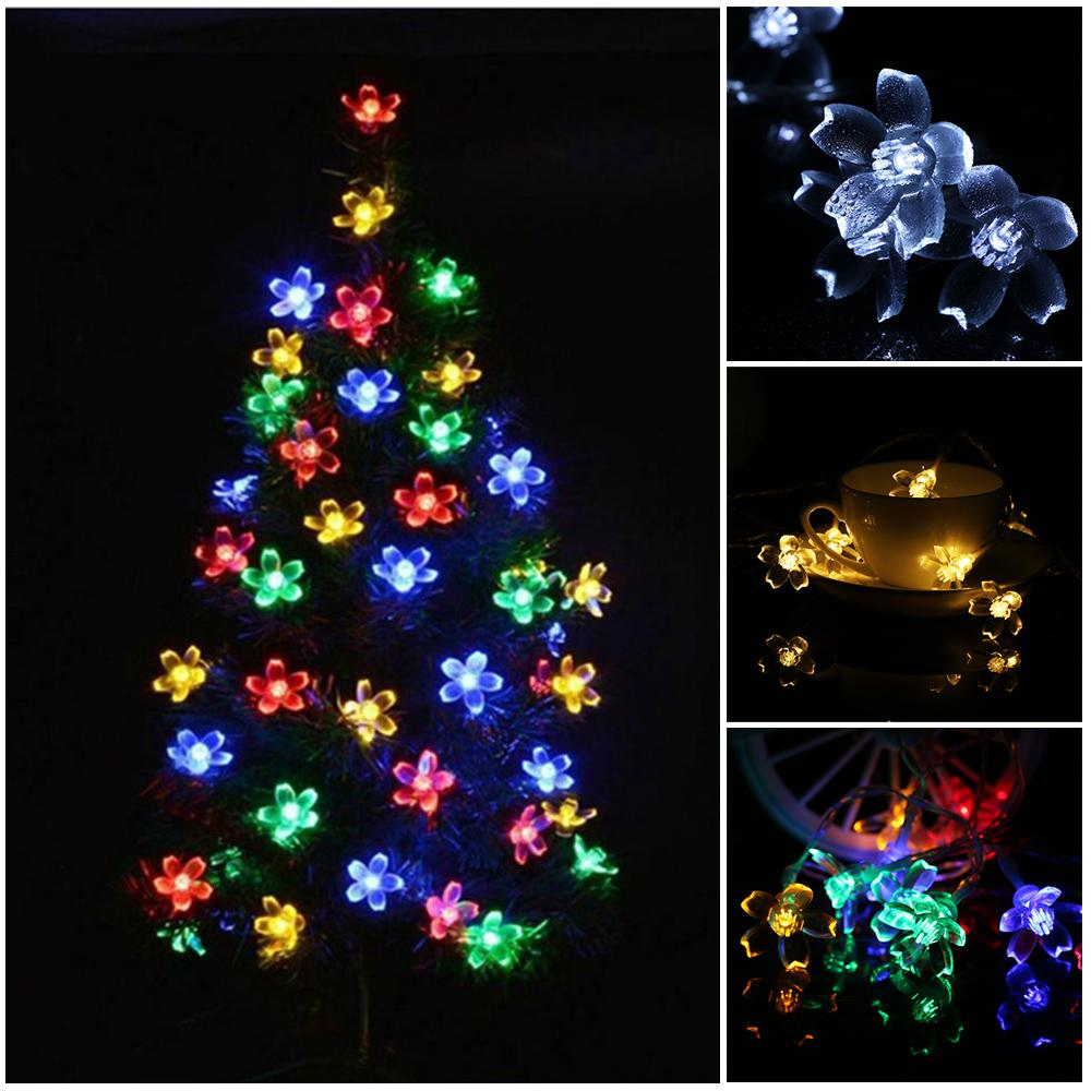 wholesale new fairy romantic shining 10led plum shaped string lights christmas tree hanging ornament wedding xmas light led light string bedroom string