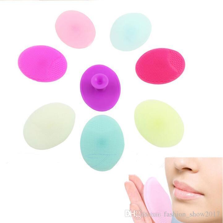 Отшелушивающая кисть для лица Детские мягкие силиконовые средства для мытья лица Чистящая салфетка для кожи SPA Scrub Cleanser Tool