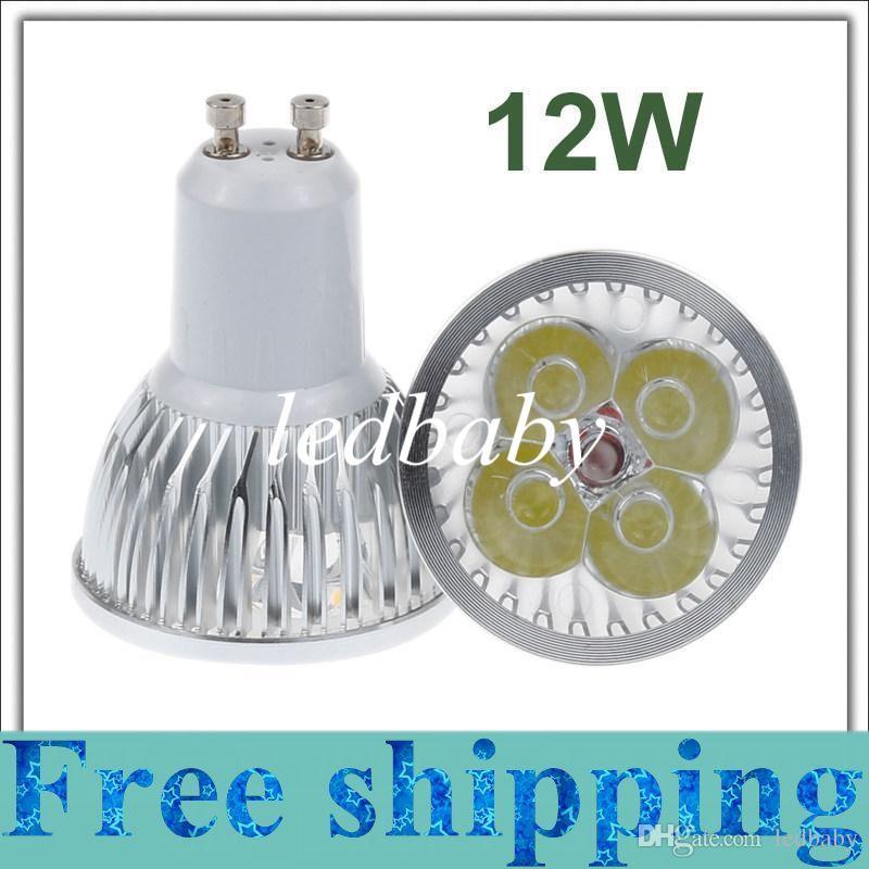 12 واط gu10 mr16 e27 gu5.3 b22 e14 led دوونلايتس عكس الضوء أدى ضوء بقعة أضواء مصابيح 4x3 واط دافئ / بارد / النقي الأبيض شحن مجاني
