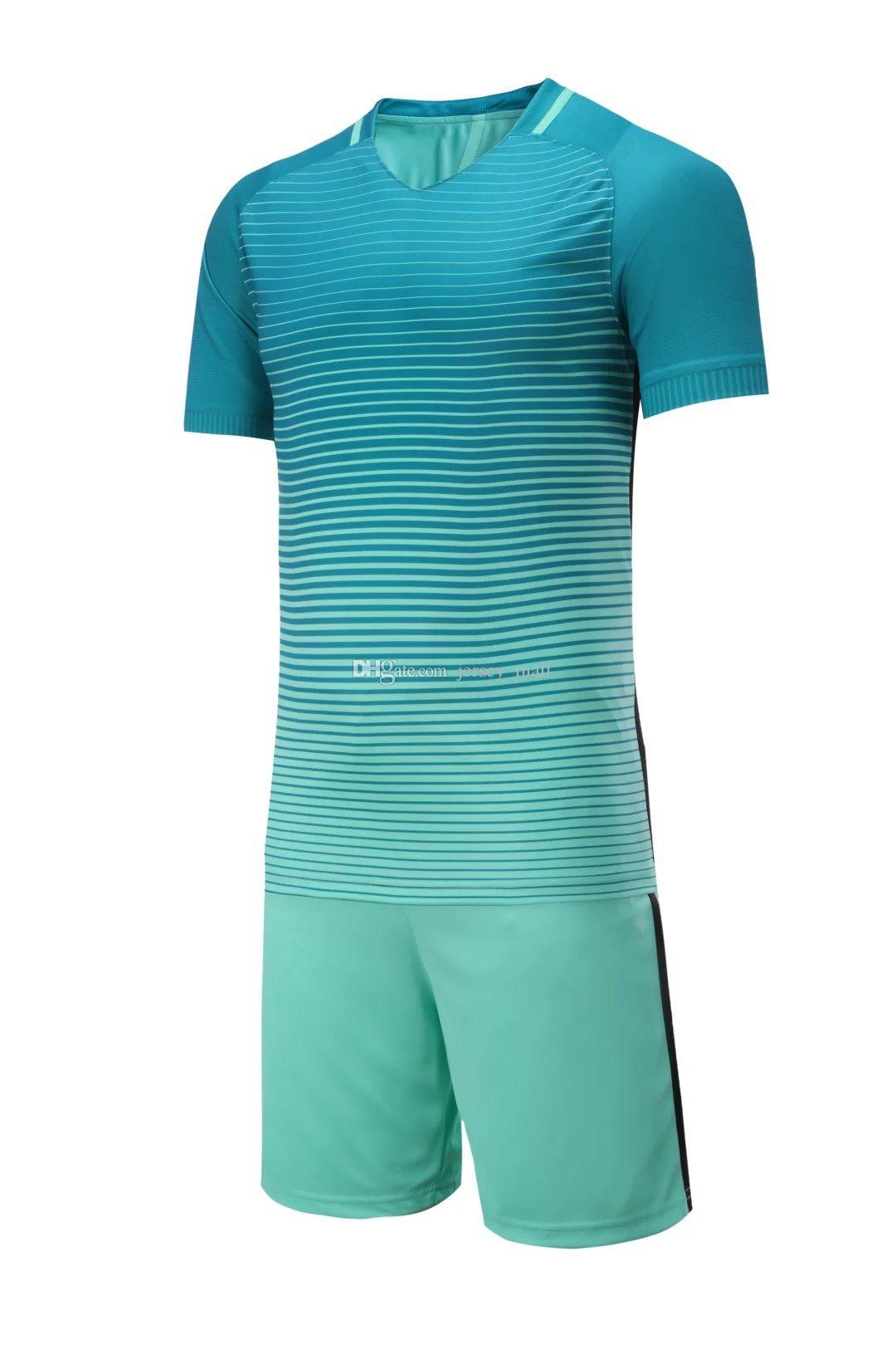 wholesale soccer jersey kit football tshirt shorts pants uniform set / men  s sport articles Blank jersey -- support customize name num