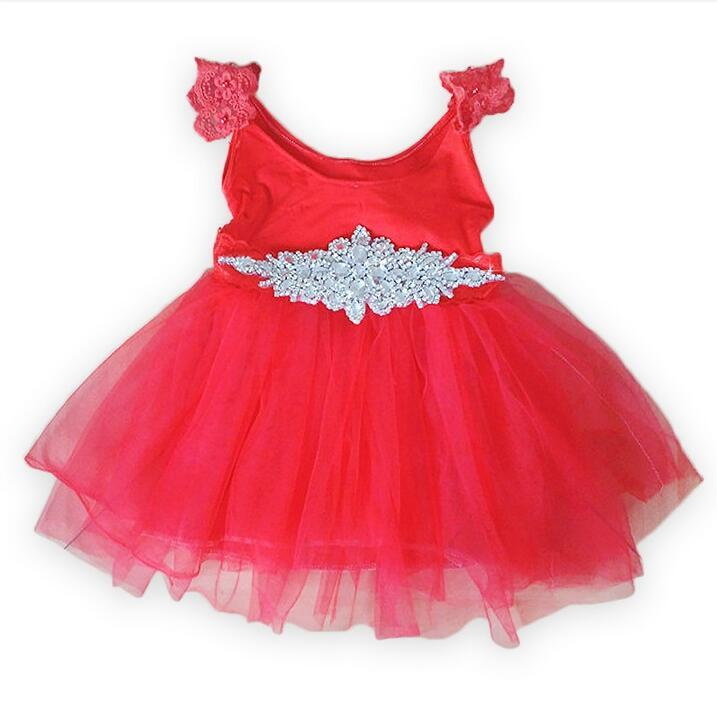 New Kids Girls Dresses Kids Vintage Lepoard Sleeveless Tulle dress Clothes with Rhinestone for baby girls