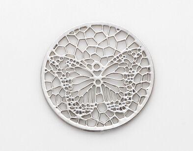 NUOVI piatti di finestra galleggianti vuoti rotondi d'argento 22MM / di 22MM misura il medaglione di vetro di memoria magnetico da 30mm