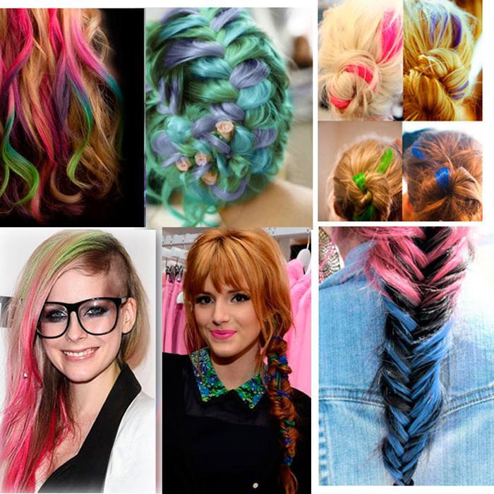 Bravo hair multi colored clip in hair weaving extension synthetic see larger image pmusecretfo Images