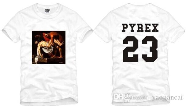 Hot Sales Men Women T-Shirt Kanye EXO Pyrex Vision 23 T Shirt Summer Hipster Top Hip-Hop Tee Shirt PYREX 23 Clothing HBA