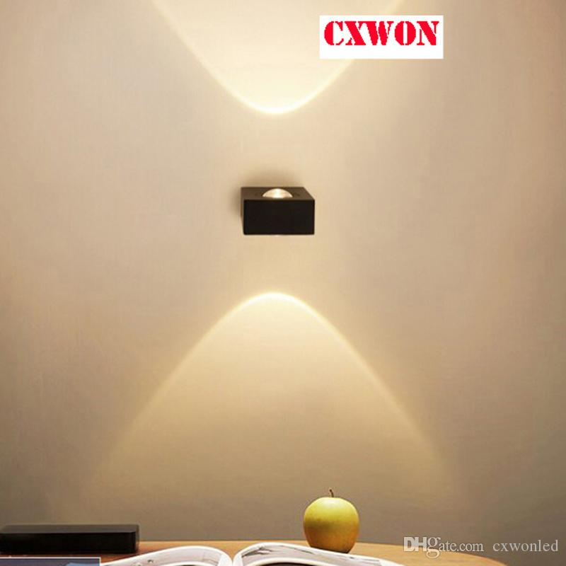 Led Wall Lamp 5W Modern One Side And Double Light Living Room Acrylic AC85 240V Home Aluminum Spotlight Corridor Lights Lighting