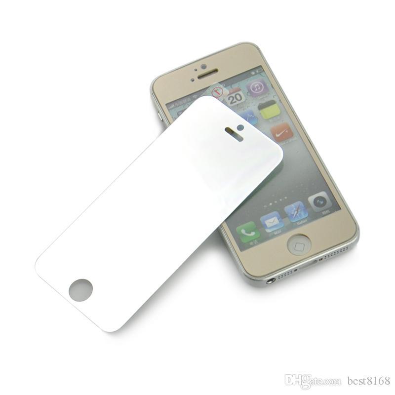 Protecteur d'écran de verre trempé de la meilleure qualité de miroir avant de 0.3mm 2.5D pour Iphone 6 6S 4.7 plus 5 film anti-déflagrant de 5S 5C 4 4S avec la boîte de détail