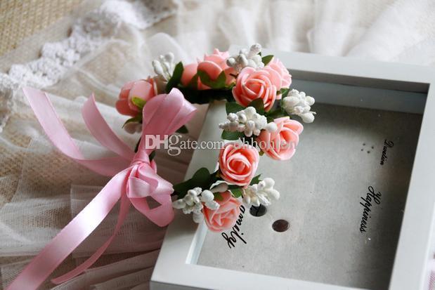 Envío gratis de una sola cubierta de mano artificial guirnalda de flores de seda decoración de la fiesta de la flor para la boda de navidad y decoración de la casa, etc.