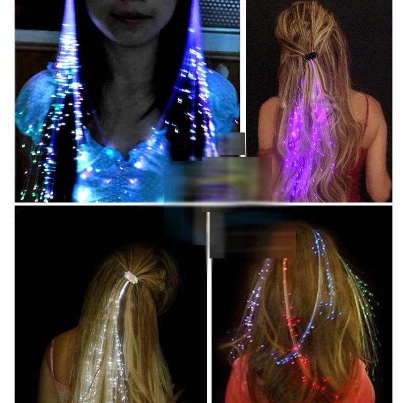 Luminous light up led hair extension flash braid party girl hair see larger image pmusecretfo Choice Image