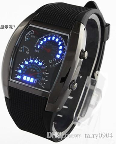 of military item gold thin fashion digital electronic sport leather belt led men watches touch steel outdoor watch smart