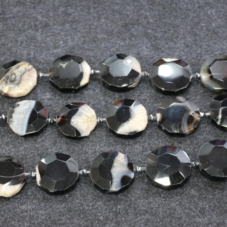 /1Strand Black Druzy Agate Gemstone Beads, Natural Slice Slab Drusy Druzy Agate Necklace Pendant Connector Jewelry Making Wholesale