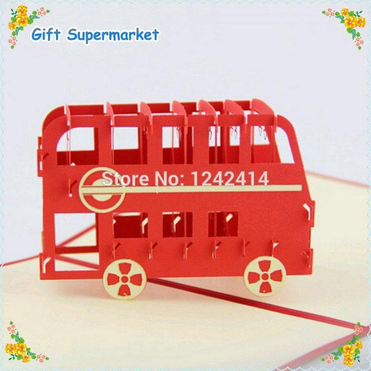 Greeting Cards New Type London Bus Handmade 3d Pop Up Invitation – London Birthday Cards