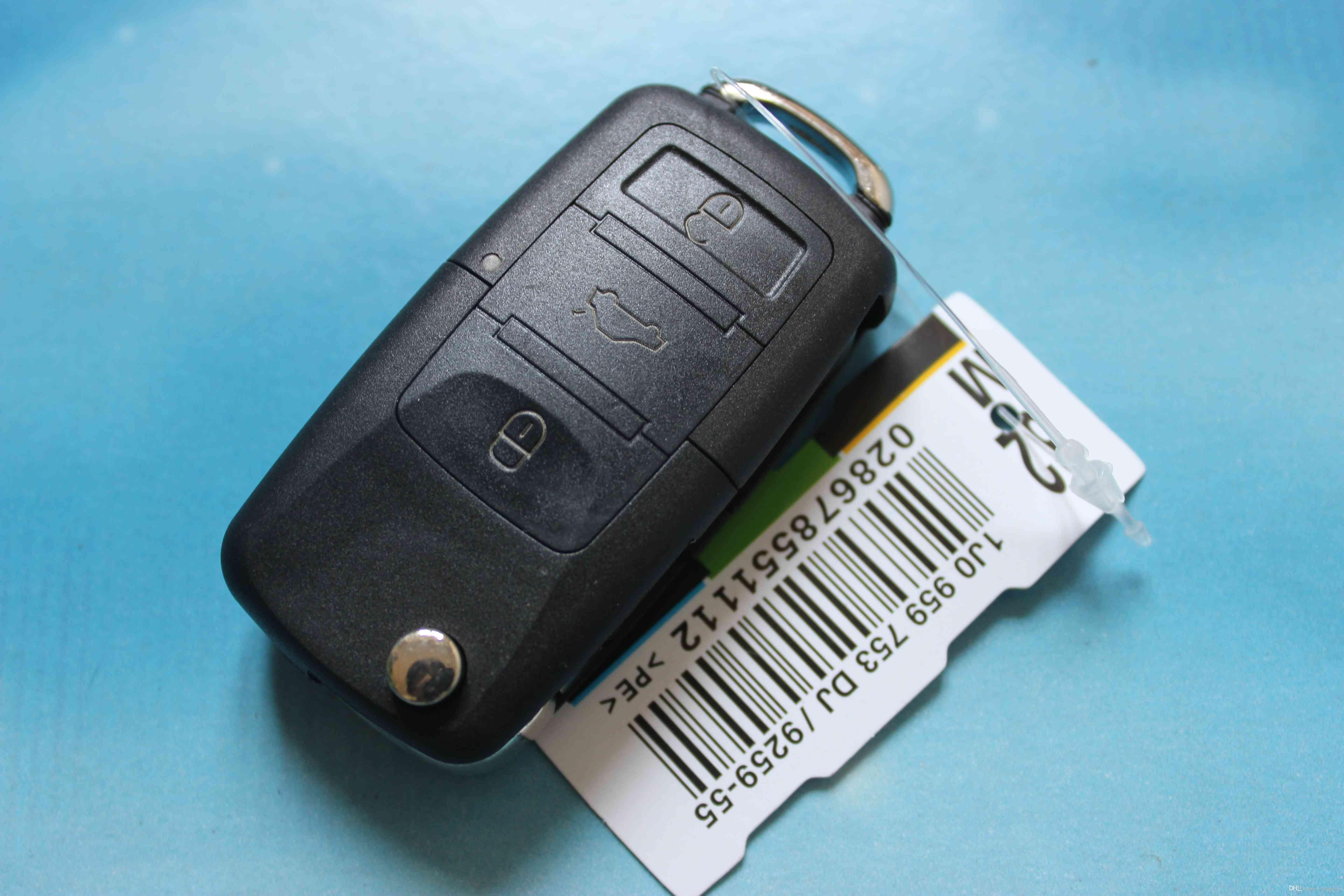 Car Key Blank Cover 3 Buttons Flip Folding Remote Key Shell Replacement Case Fit For VW Golf Passat Polo Bora