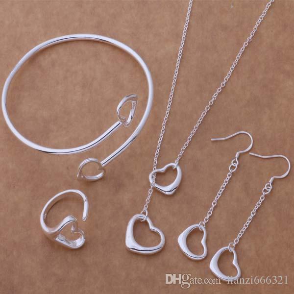 Livraison gratuite avec numéro de suivi Nouveaux bijoux de mode des femmes de mode 925 argent 12 mix bijoux ensemble 1457
