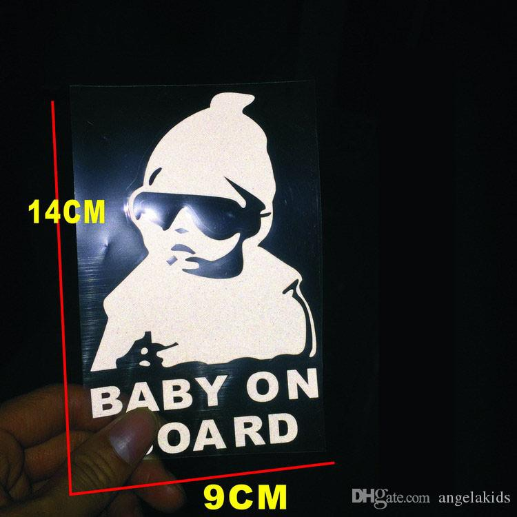 Special MaiChao child on board sticker Baby reflective warning post convenient Paste Baby car reflective white Real figure
