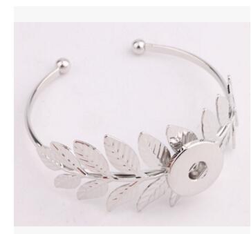 silver flower sun leaf 18mm snap button fashion jewelry accessories pendant bracelet Noosa buttons snap button giner button bracelet bangle