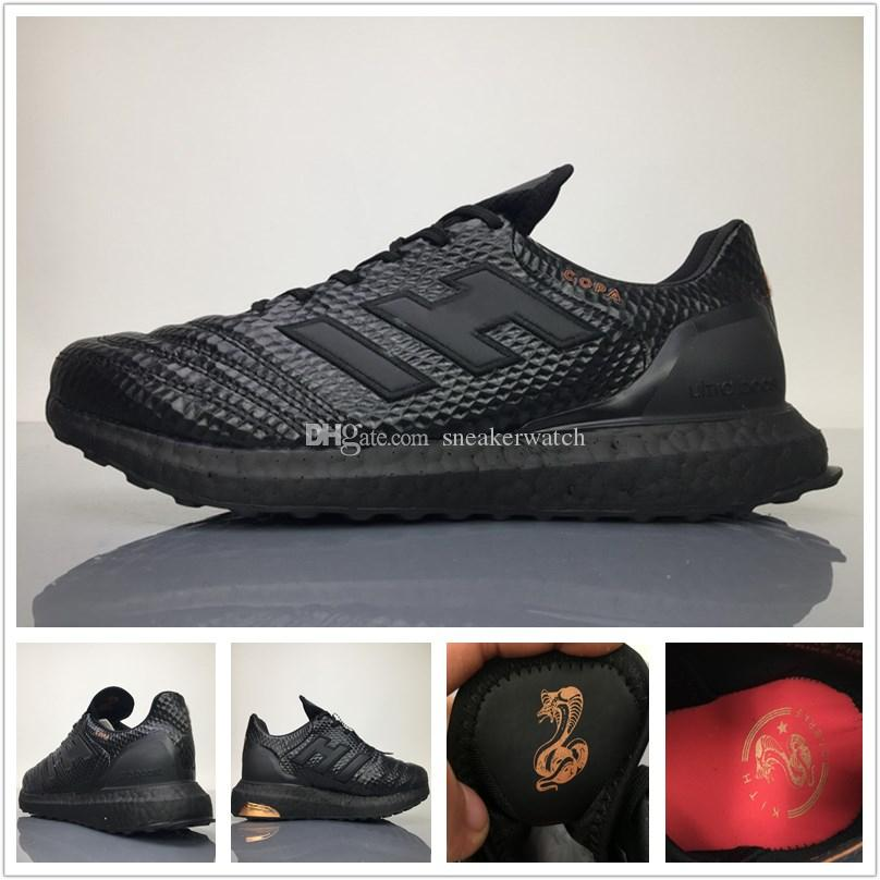 0d4f0ba86 Wholesale Kith X Copa 17.1 Ultra Boost Real Boost Running Shoe Triple Black  White CM7896 CM7895 Ultra Boost Mens Sports Shoes Sneakers Best Womens  Running ...