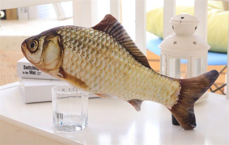 Fish Shape Cat Toys Plush Pet Supplies Cute Simulation Pets Juguete Muñeca Almohada No Tóxico Inocuo 3kr2 C R