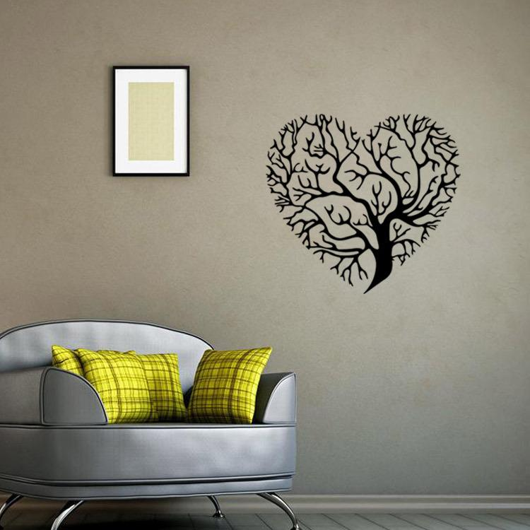 Heart Shaped Tree Wall Art Mural Decor Sticker Living Room Bedroom Fashion Decoration Graphic Poster Transfer Applique Decals Stickers