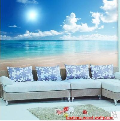 New Can Customized Large 3d Mural Art Wallpaper Home Decor Personality  Visual,Ocean Scenery Nonwoven Fabric Wall Stickers Ocean Room Scenery High  Quality ...