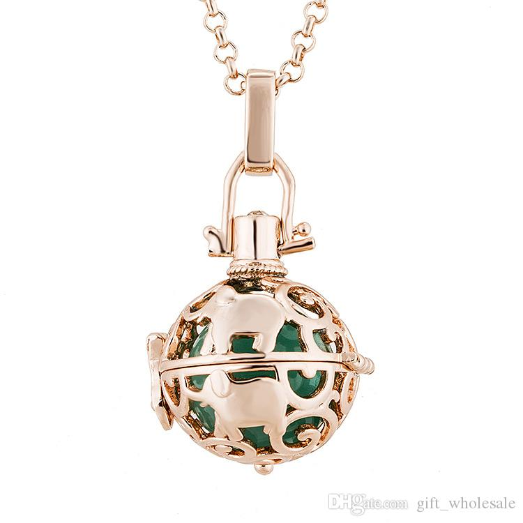 Harmonious / Harmon ball Pregnancy Ball Bola Plating Angel Ball Copper Matal Necklaces Jewelry Wholesale