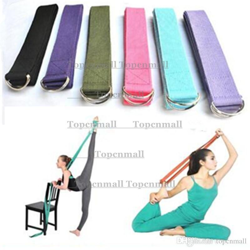 183*3.8cm Long Type Yoga Stretch Strap Training Belt Waist Leg Fitness Gym Gym D-Ring Pilates Fitness Figure Waist Leg