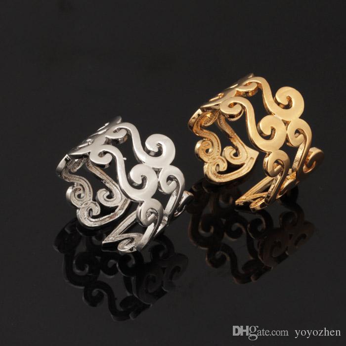 Новый 18K настоящее позолоченный уникальный S письмо дизайн Оптовая мода ювелирные изделия обручальные кольца старинные кольца для женщин/ мужчин R309