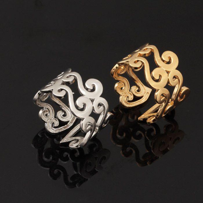 New 18 K Real Banhado A Ouro Único S Carta Design Atacado Moda Jóias Faixas De Casamento Anéis Do Vintage Para As Mulheres / Homens R309