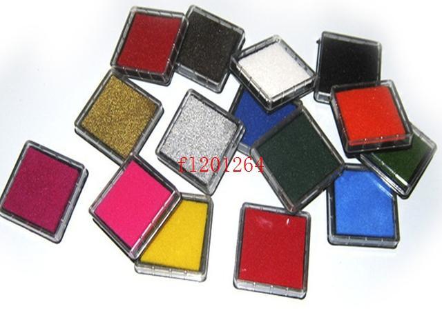 DHL Fedex Бесплатная доставка Новый 15 цветов ремесло чернила pad красочные мультфильм чернила pad для различных видов марок, 500 шт. / лот