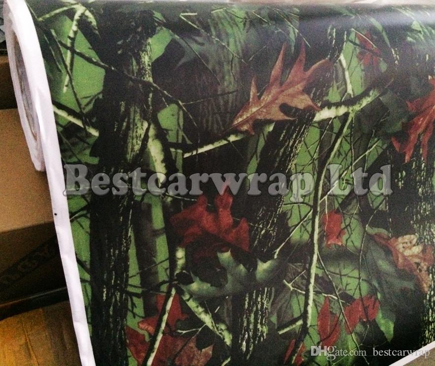 Envoltura de vinilo de camuflaje de árbol de primera calidad para envoltura de automóvil Camuflaje de hoja de árbol de roble musgoso CAMIÓN DE ÁRBOL DE CAMO CAMPO DE MADERA DE MADERA Tamaño 1.52 x 30 m / Rollo 5x98ft