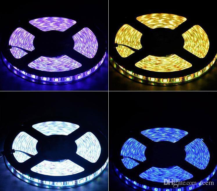 5m 5050 3528 5630 strisce a LED luce calda bianco rosso verde blu rgb flessibile 5m rotolo 300 LED 12V nastro esterno impermeabile 300300