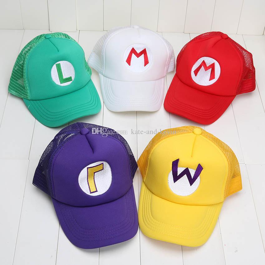 Super Mario Bros Costume Anime Cosplay Hat Cap Mario Luigi Wario ... 75c130d64136